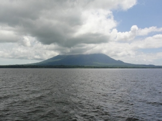 View on Ometepe Island from Lake Nicaragua